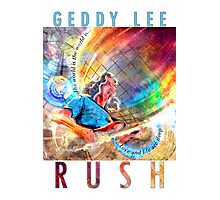 RUSH - Geddy Lee Photographic Print