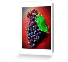 Champagne Grapes ~ Black Vignette Greeting Card