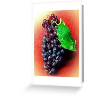 Champagne Grapes ~ White Vignette Greeting Card