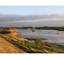 Burnham-on-Sea Estuary Photographic Print