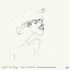 """(Night) & Nap Drawings 33 - """"Elle n'avait pas les yeux en face des trous"""" - 1st August by Pascale Baud"""