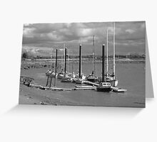 Boats moored - Burnham-on-Sea estuary #2 Greeting Card