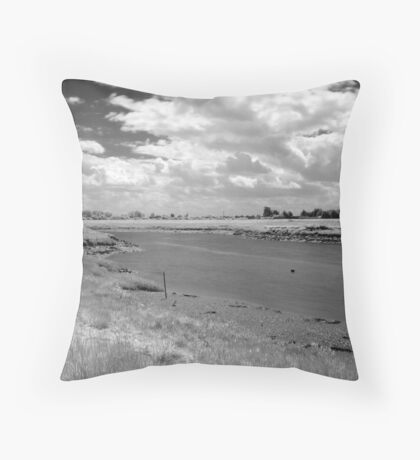 Burnham-on-Sea Estuary #2 Throw Pillow