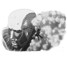 Armored Titan & Eren Photographic Print