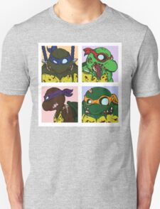 Classic 80s TMNT Shirt but with Zombies! T-Shirt