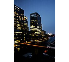 Canary Wharf, London - night image Photographic Print
