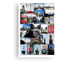 London, England - collage of multiple images Canvas Print