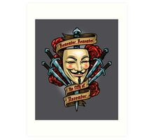 Fifth of November Art Print