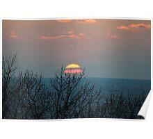 Sunset along Lake Michigan - 4 Poster