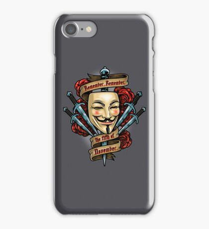 Fifth of November iPhone Case/Skin