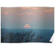 Sunset along Lake Michigan - 3 Poster