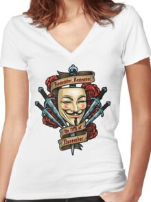 Fifth of November Women's Fitted V-Neck T-Shirt