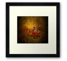 Where the Zinnia Grow Framed Print