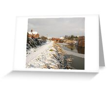 Bridgwater and Taunton Canal - winter scene. Greeting Card