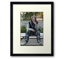 Young man. Framed Print