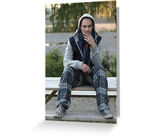 Young man. Greeting Card