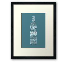 Wineography (Teal Gray) Framed Print