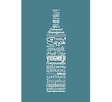 Wineography (Teal Gray) Photographic Print
