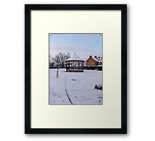 Bandstand in Blake Gardens - winter. Framed Print