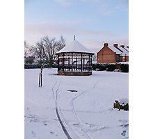 Bandstand in Blake Gardens - winter. Photographic Print
