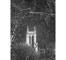 Church framed by trees. Photographic Print