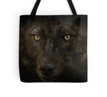 Midnights Gaze - Black Wolf Wild Animal Wildlife Tote Bag