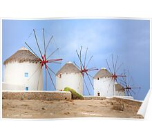 The Greek windmills of Mykonos   [FEATURED] Poster