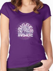 Bigger On The Inside - Purple Women's Fitted Scoop T-Shirt