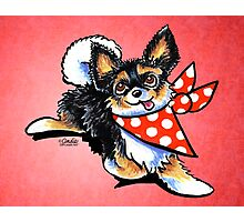Chihuahuas Love Polka Dots Photographic Print