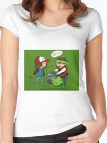 Game Grumps - They're all dead Women's Fitted Scoop T-Shirt