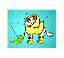 Chihuahua Rainy Day Fun Art Print