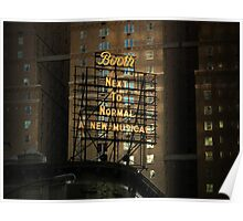Broadway theatre signage, billboard at night Poster