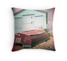 #boat hut Throw Pillow