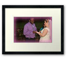 bride and groom 3 Framed Print