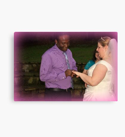bride and groom 3 Canvas Print