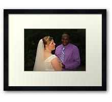 bride and groom 4 Framed Print