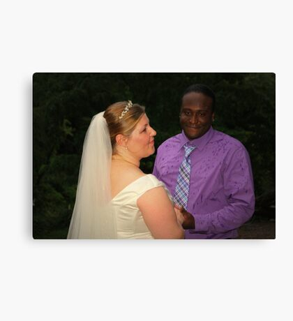 bride and groom 4 Canvas Print
