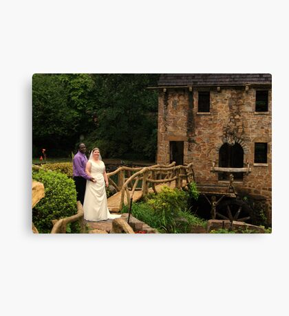 bride and groom 5 Canvas Print