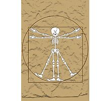 Vitruvian Man Skeleton Cartoon  Photographic Print