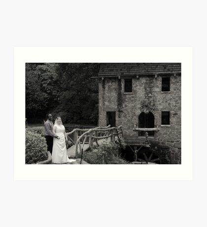 bride and groom 6 Art Print