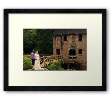 bride and groom 7 Framed Print