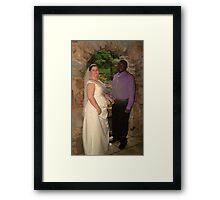 bride and groom 10 Framed Print