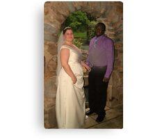 bride and groom 10 Canvas Print