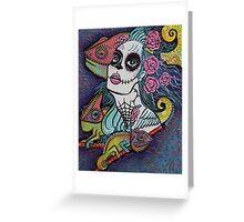 Chameleon Sugar Skull Greeting Card