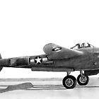 Lockheed P-38 Lightning  by Dave Black
