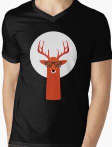 OHH DEER Mens V-Neck T-Shirt