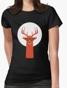 OHH DEER Womens Fitted T-Shirt
