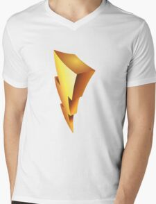 Mighty Morphin Power Rangers Symbol Mens V-Neck T-Shirt