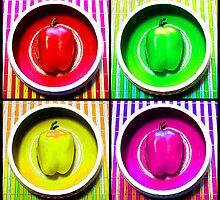 Bell Pepper Rainbow by SRowe Art