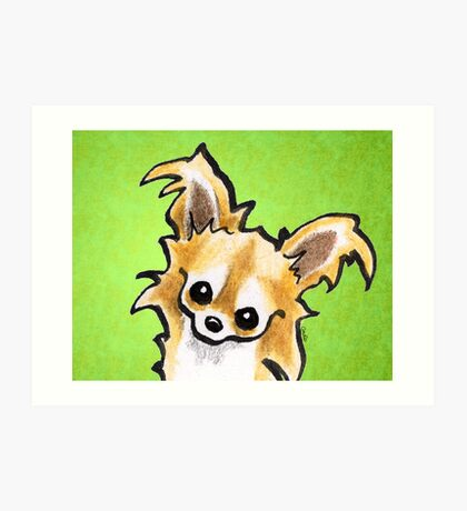 Long Haired Chihuahua Trim Time Art Print